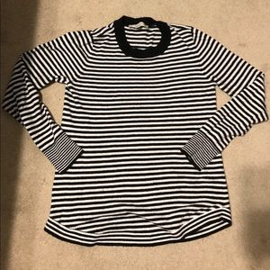 Loft black and white stripe sweater size small